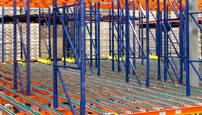 pallet flow strucural pallet rack