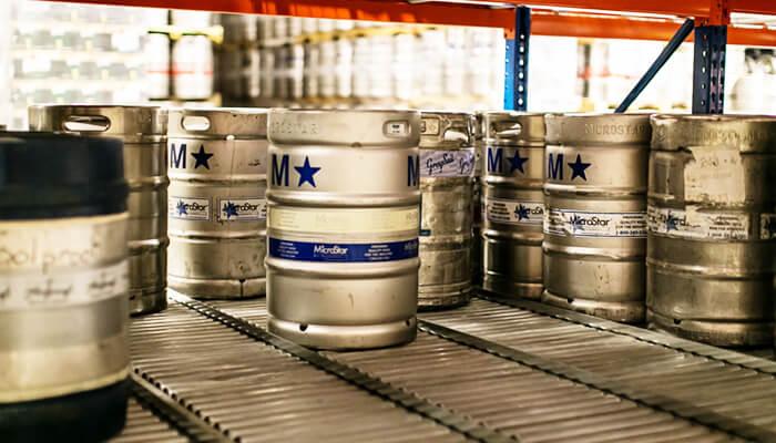 beer keg storage racks pallet racking