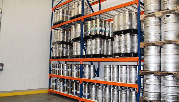 beer keg storage racks