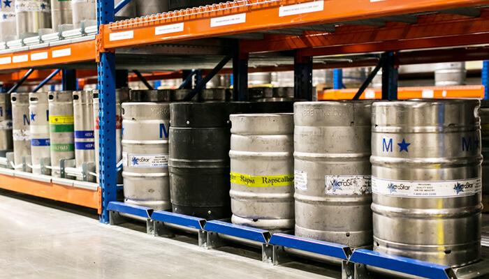 beer keg storage racks pallet rack