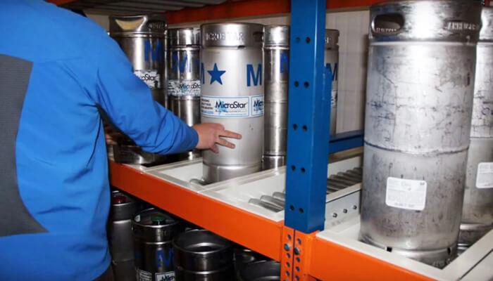 beer keg flow racking